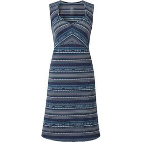 Sherpa Preeti jurk Dames blauw/bont